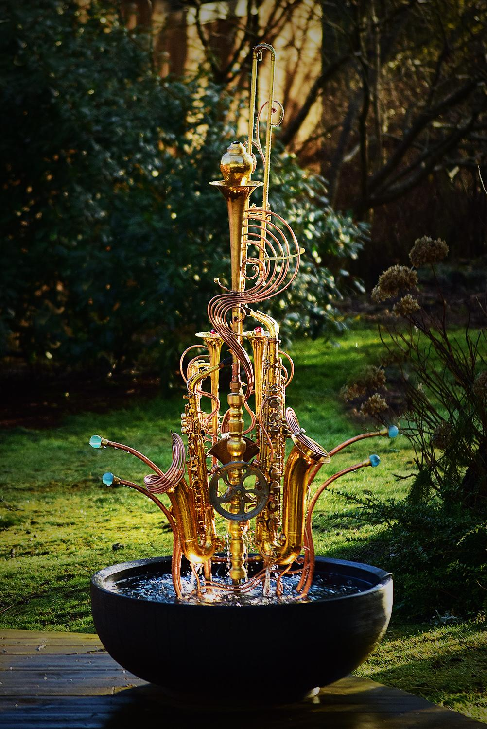 Twin Sax Fountain