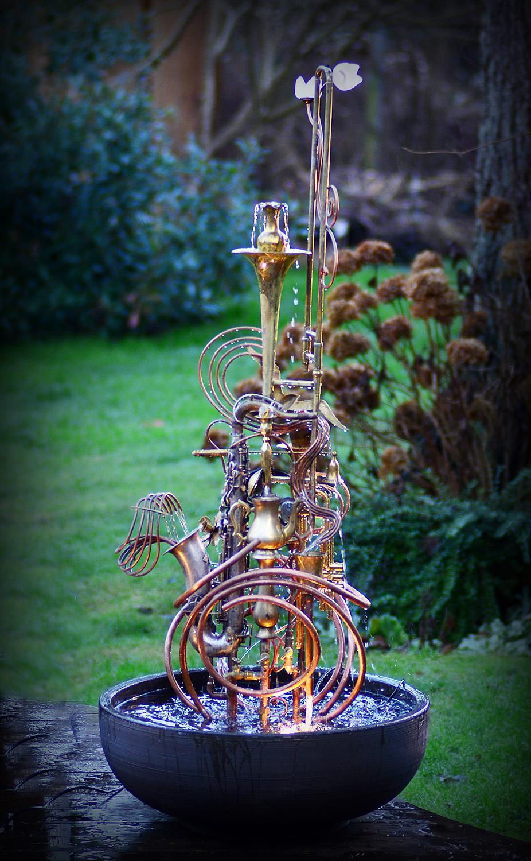 Silver Sax Fountain